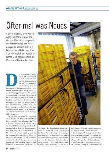 Öfter mal was Neues - FACTS Verlag GmbH