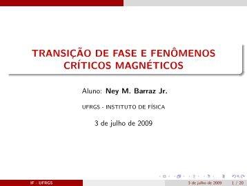 transiįão de fase e fenômenos críticos magnéticos - Instituto de ...