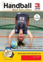 Ladies Fight_Ausgabe1.indd - Handball Bad Salzuflen – 1. Damen