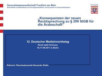 Alexander Badle - Medizinrechts-Beratungsnetz