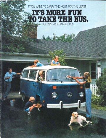 1978 VW Bus Sales Brochure - PDF - TheSamba.com