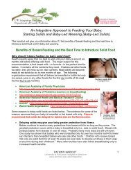An Integrative Approach to Feeding Your Baby - UW Family ...