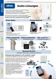 Audio-Lösungen - OPUS Schalter