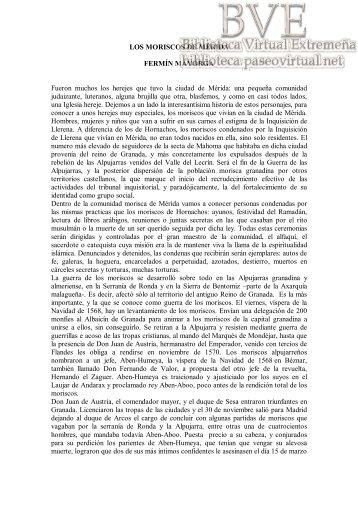 Los moriscos de Mérida - Paseo Virtual por Extremadura