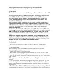 Humana's answers to second round of questions - Asha for Education
