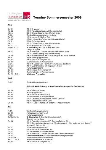 Aktuelle Termine als pdf-Datei - Collegium Canisianum