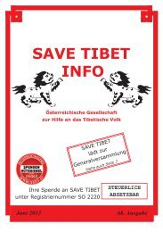 Save Tibet Info Juni 2013