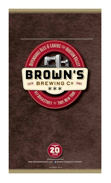 Download the Menu (.pdf) - Brown's Brewing