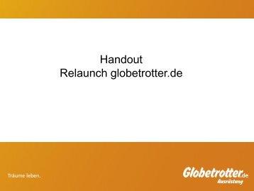 Handout Relaunch globetrotter.de