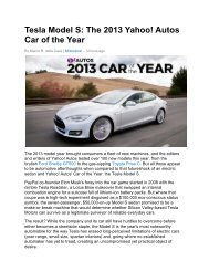 Tesla Model S: The 2013 Yahoo! Autos Car of the Year - Technology ...