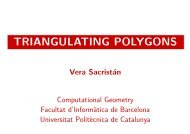 Triangulating polygons (includes simulations of the different ... - UPC