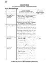 1364 Ausbildungsrahmenplan für die Berufsausbildung zum ...