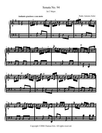 Sonata No. 94 in C Major - Chateau Gris Home Page