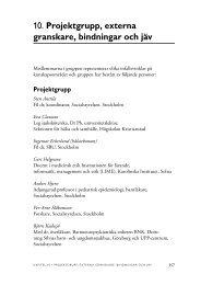 10. Projektgrupp, externa granskare, bindningar och jäv - SBU