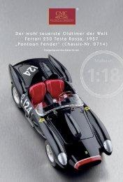 Der wohl teuerste Oldtimer der Welt Ferrari 250 Testa Rossa ... - CMC