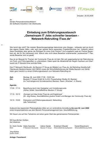 Gemeinsam IT Jobs schneller besetzen - Netzwerk-Rekruiting ITsax ...