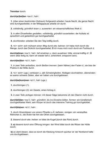 durch - Germanistik