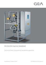 Automatische Standardisierungseinheit GEA Westfalia Separator ...