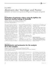 Abstracts der Vorträge und Poster - Altex