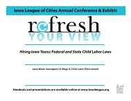 Child Labor Presentation 2012-2013-PDF - Iowa League of Cities