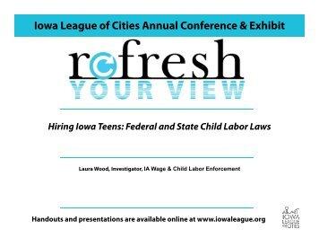 Child Labor Presentation 2012-2013-PDF - Iowa League of Cities