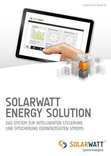 Broschüre SOLARWATT ENERGY SOLUTION