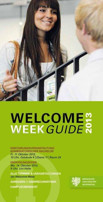 WEEK - ZSB - Bergische Universität Wuppertal