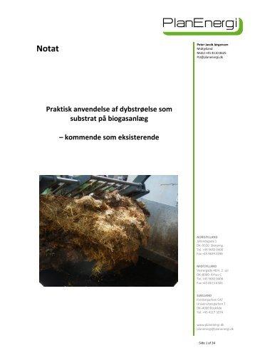 Praktisk anvendelse af dybstrøelse som substrat ... - Energistyrelsen