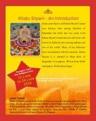 Khatu Shyam : An Introduction - nimble travels