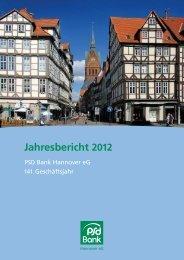 Jahresbericht 2012 - PSD Bank Hannover eG