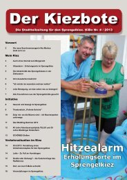 Hitzealarm – Erholungsorte im Sprengelkiez - Sparrplatz Quartier