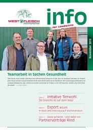 Initiative Tierwohl: Partnerverträge Rind - Westfleisch e.G.