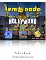 The Events - Overview - LemonadeWeekend2.com