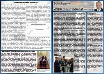 Liebe Leser, - Dr. Thomas Feist MdB
