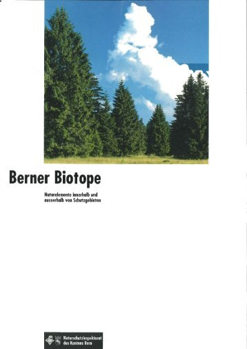 Berner Biotope 1992 - Volkswirtschaftsdirektion des Kantons Bern