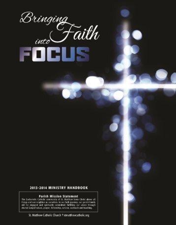 Ministry Handbook - St. Matthew Catholic Church