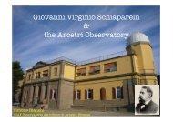Giovanni Virginio Schiaparelli & the Arcetri Observatory