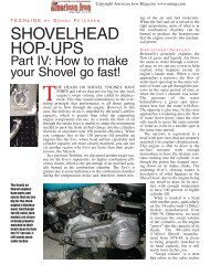 Shovelhead Hop-Ups Part IV