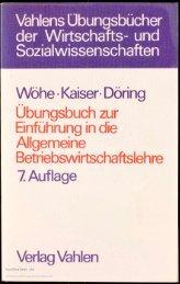 Wöhe / Kaiser / Döring Übungsbuch zur Einführung ... - buchkalmar.de