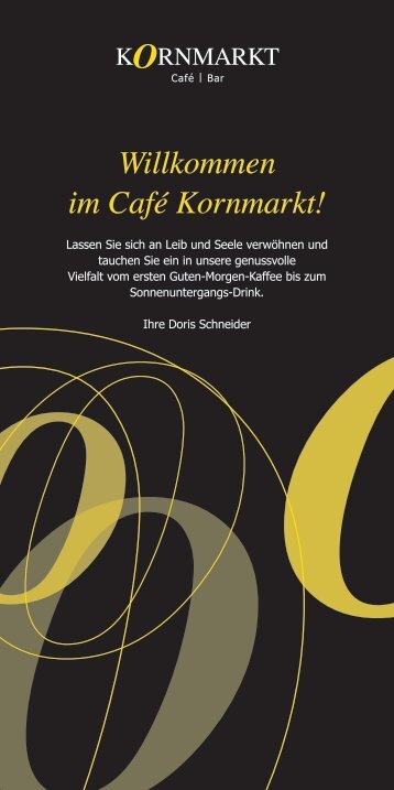 Download Speisekarte pdf - Cafe Kornmarkt