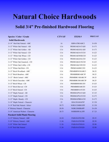 Natural Choice Hardwoods - Gordon's Hardwood Flooring