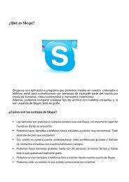 ¿Qué es Skype
