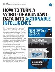 HOW TO TURN A WORLD OF ABUNDANT DATA ...