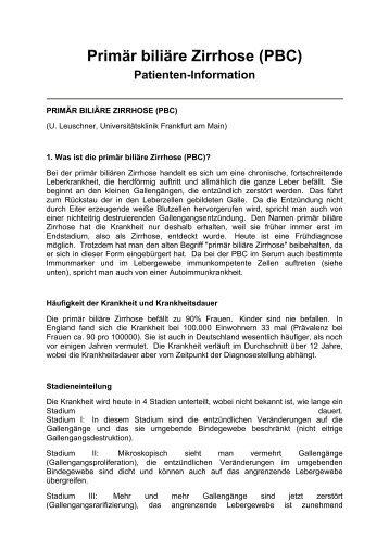 Primär biliäre Zirrhose \(PBC\)