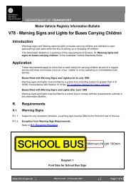 Warning Signs and Lights for Buses Carrying Children