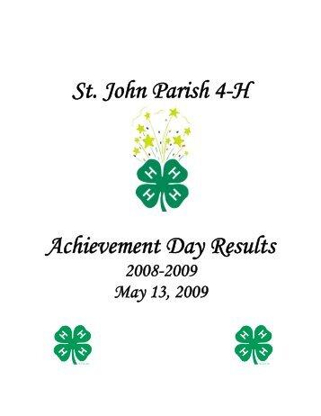 St. John Parish 4-H Achievement Day Results