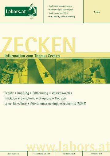 Information zum Thema: Zecken - Labors Mühl-Speiser
