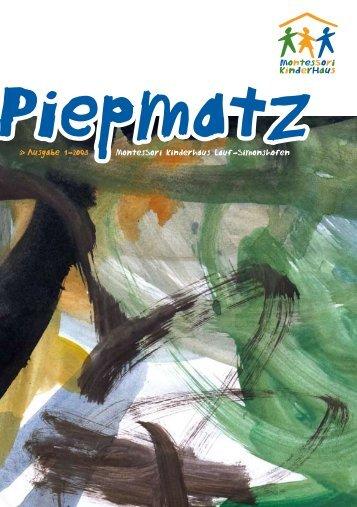 Ausgabe 1-2o08 MontesSori Kinderhaus Lauf-Simonshofen