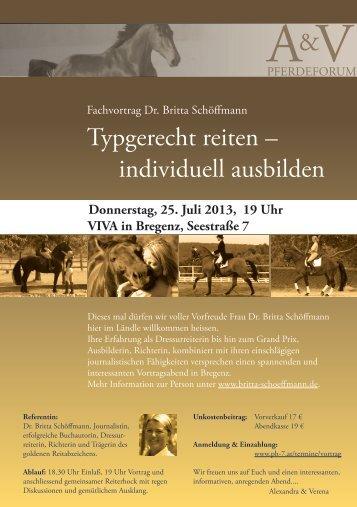Vortrag in Bregenz - Britta Schoeffmann