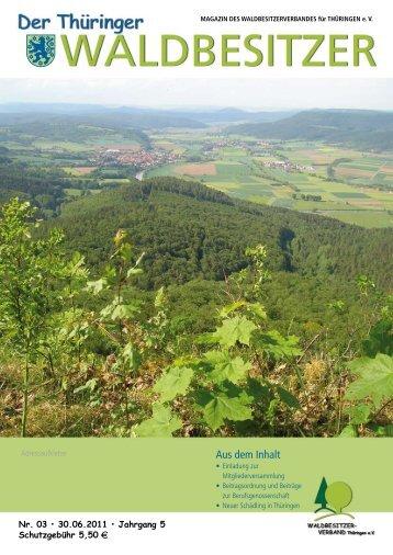 download zeitung nr.3, 2011 - WALDBESITZERVERBAND FÜR ...